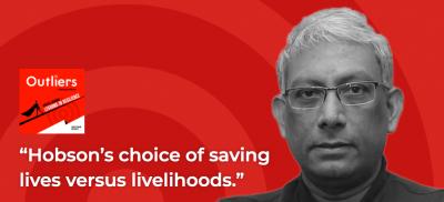 Capa do podcast Outliers com entrevista a Ravi Venkatesan