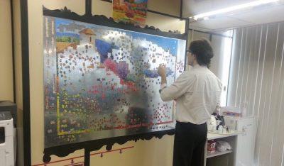 Puzzle de parede na sala da INOVA
