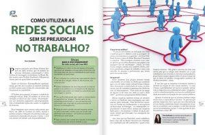Páginas da matéria sobre produtividade e redes sociais
