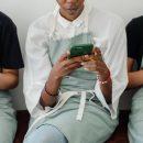 Baristas no smartphone