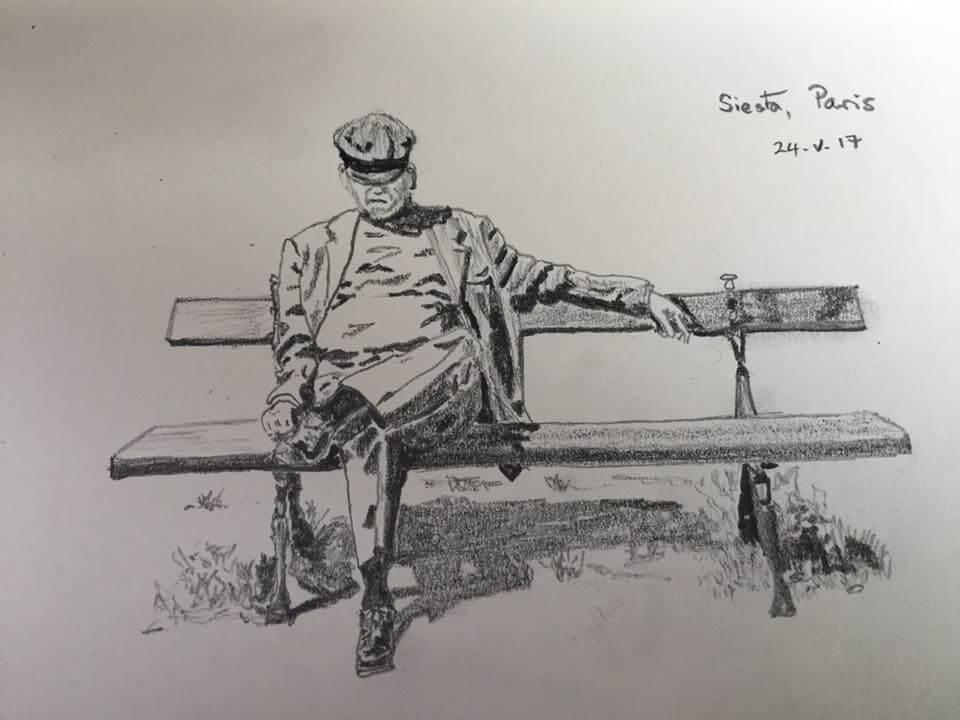 Um desenho de Patrick Lambe