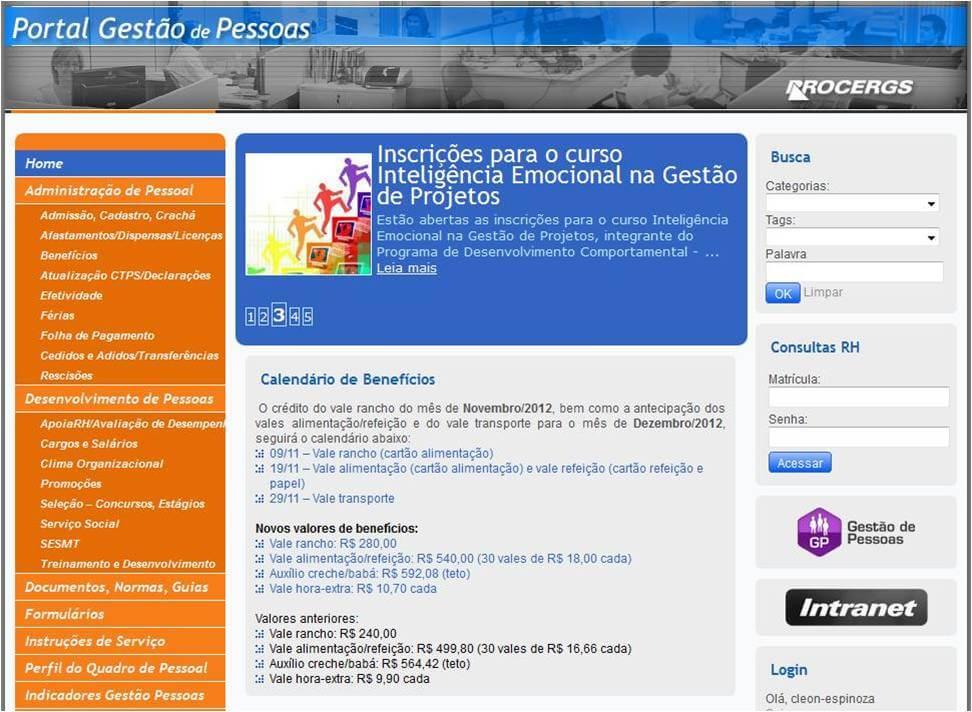 Portal das Pessoas na PROCERGS