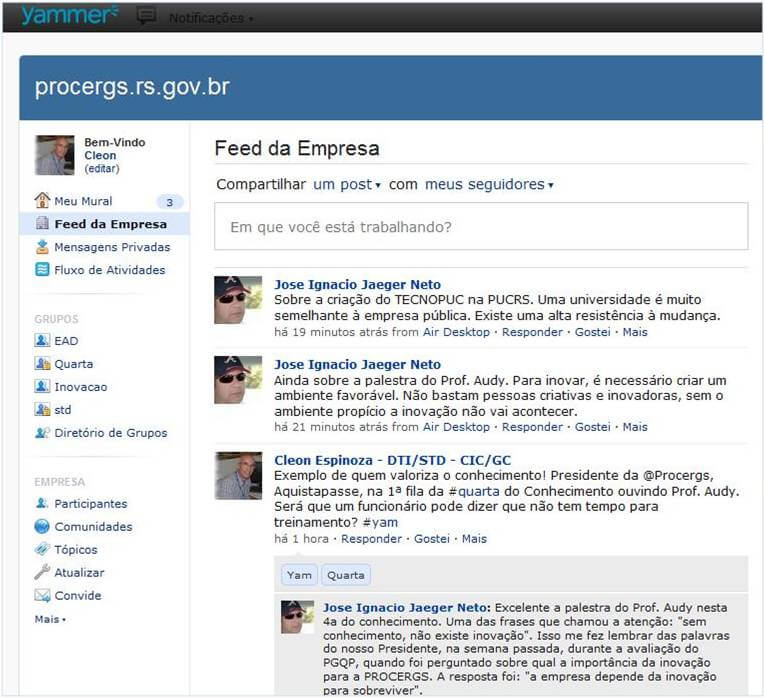 Yammer PROCERGS