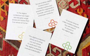Social Technologies in Business - postais com quotes do livro