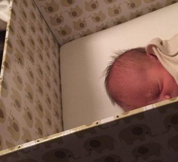 Bebé numa caixa - ao estilo finlandês