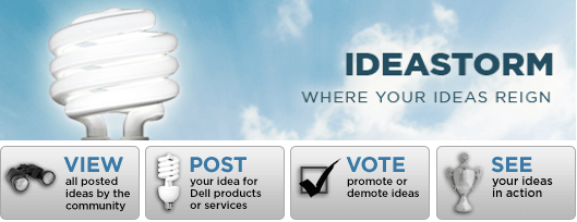 Dell - screenshot do IdeaStorm