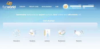 Flat World Knowledge - screenshot