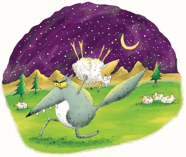 Uma das ilustrações de Bobby Gombert no livro
