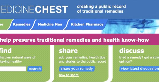 Medicine Chest - página inicial