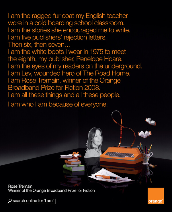 "Cartaz da campanha ""I am everyone"" da Orange"