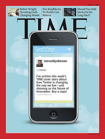 Twitter na capa da revista Time (junho 2009)