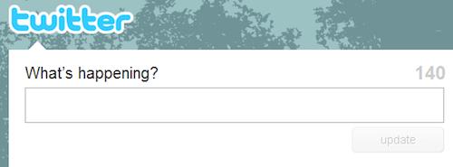 Twitter - pergunta atual